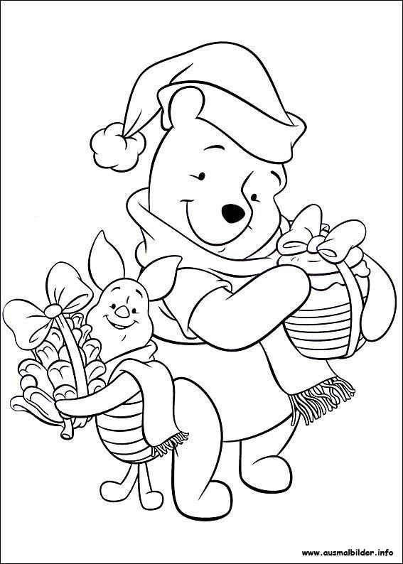 weihnachten unter freunden malvorlagen  disney coloring