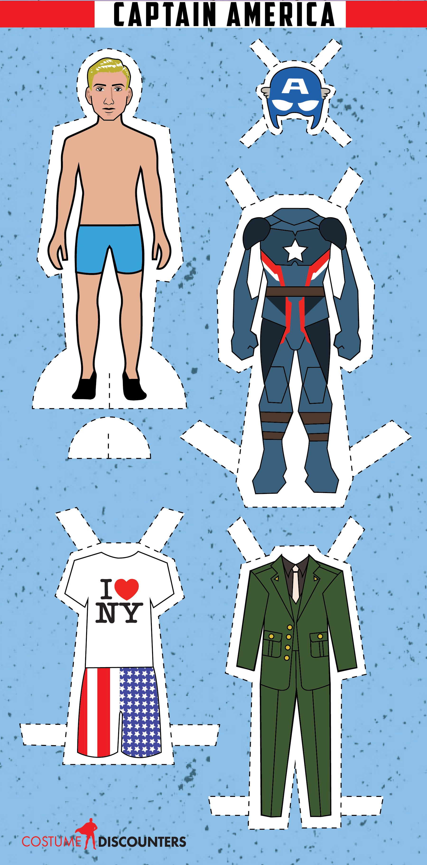 A paper doll of Chris Evans as Captain America in honor of Avengers ...