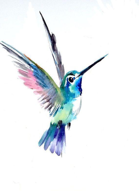 Image result for watercolor tattoo hummingbird – # Watercolor #artsy … – Tattoos