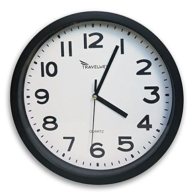 Home Wall Clock Battery Operated No Bells No Whistles Simply Hang And Silent In 2020 Wall Clock Glass Wall Clock Clock