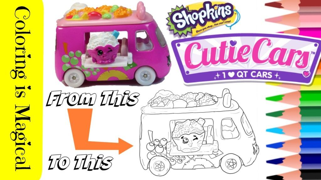 Coloring Shopkins Cutie Car Fruity Zoomer Coloring Page Coloring