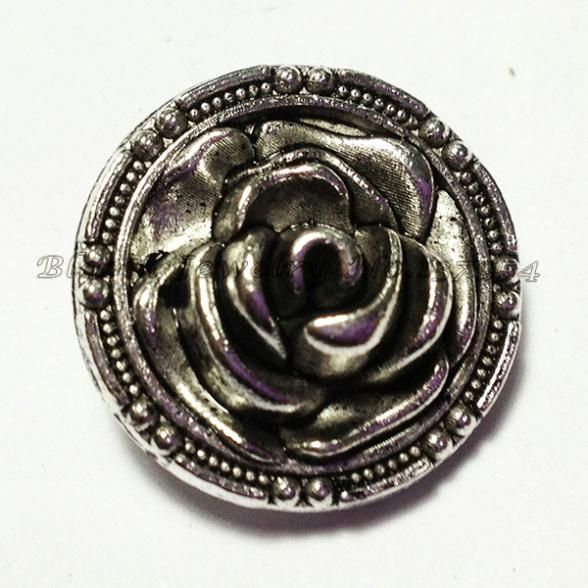 M101 Rose Button OEM ,ODM welcome hot sale  metal chunk for noosa bracelet $0.36