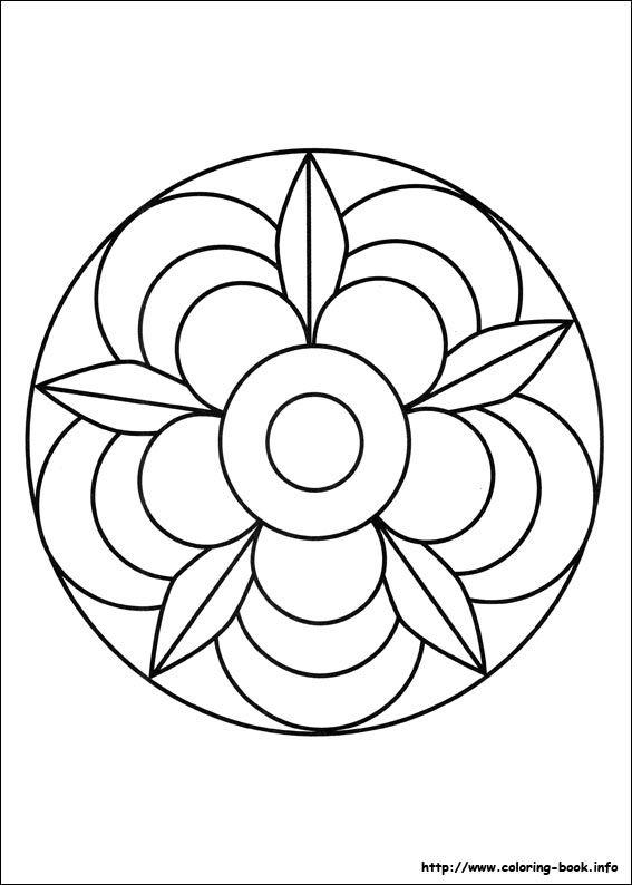 Mandalas coloring picture | Mandala | Pinterest | Mandalas, Mosaicos ...