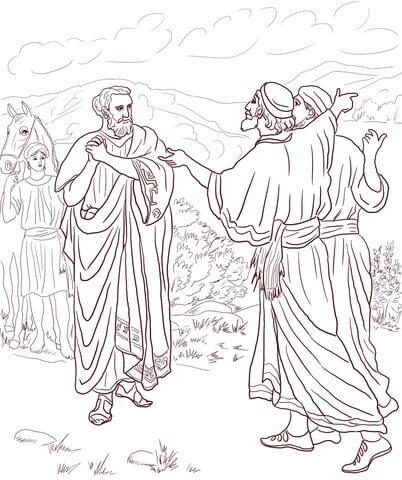 Jesus Healed The Son Of The Nobleman Coloring Page Bible