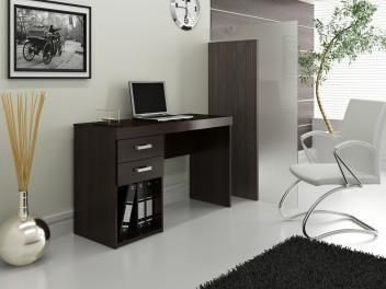 Escrivaninha Mesa Para Computador 2 Gavetas Politorno Malta