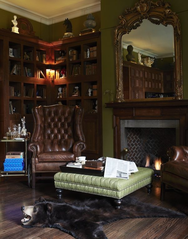 Old English Drawing Room: Home Library, English Decor