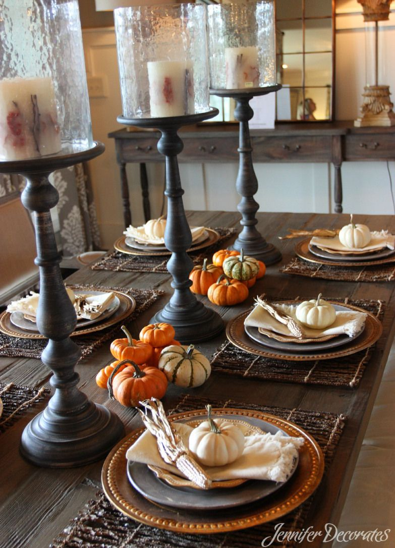 Fall table decorating ideas from jennifer decorates beautiful table fall table decorations you can do yourself on a budget gorgeous table decorating ideas you will love learn to decorate a pumpkin with ribbon solutioingenieria Images