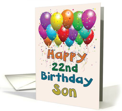 happy 22 birthday son balloons card things i love pinterest