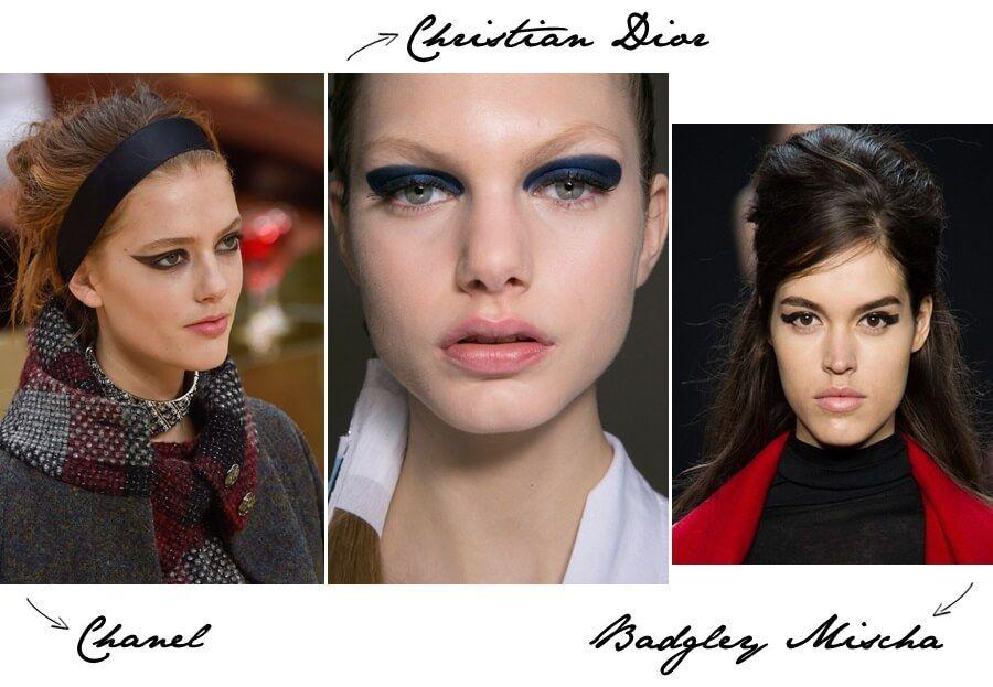 Gold eyeliner trend