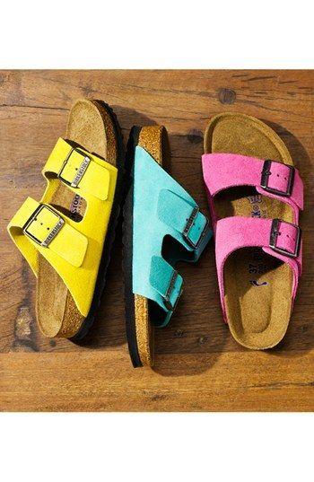 birkenstock 'arizona' soft footbed suede sandal (women) | yes