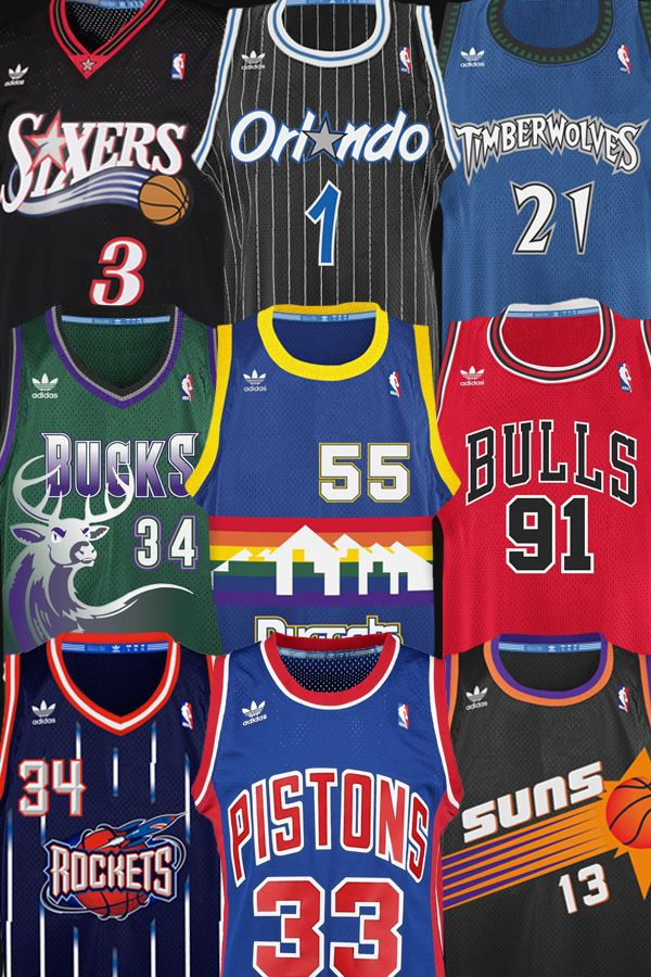 Get great throwback style with the NBA Hardwood Classics