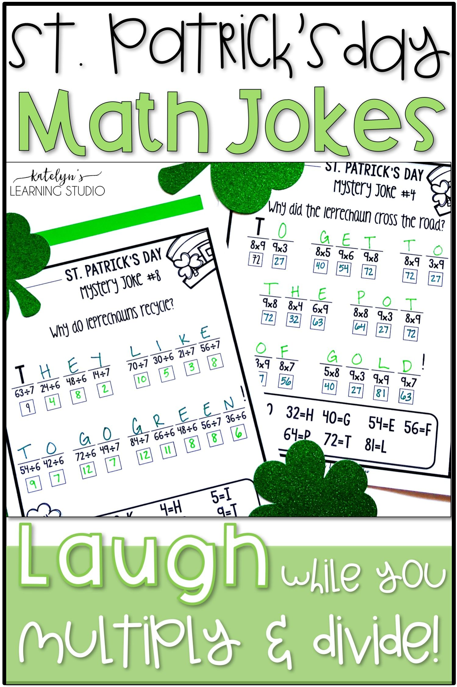 St Patricks Day Multiplication And Division St Patricks Day Multiplication And Division Math Division