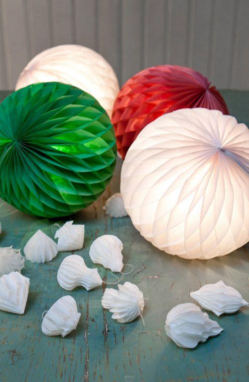 Honeycomb paper lights