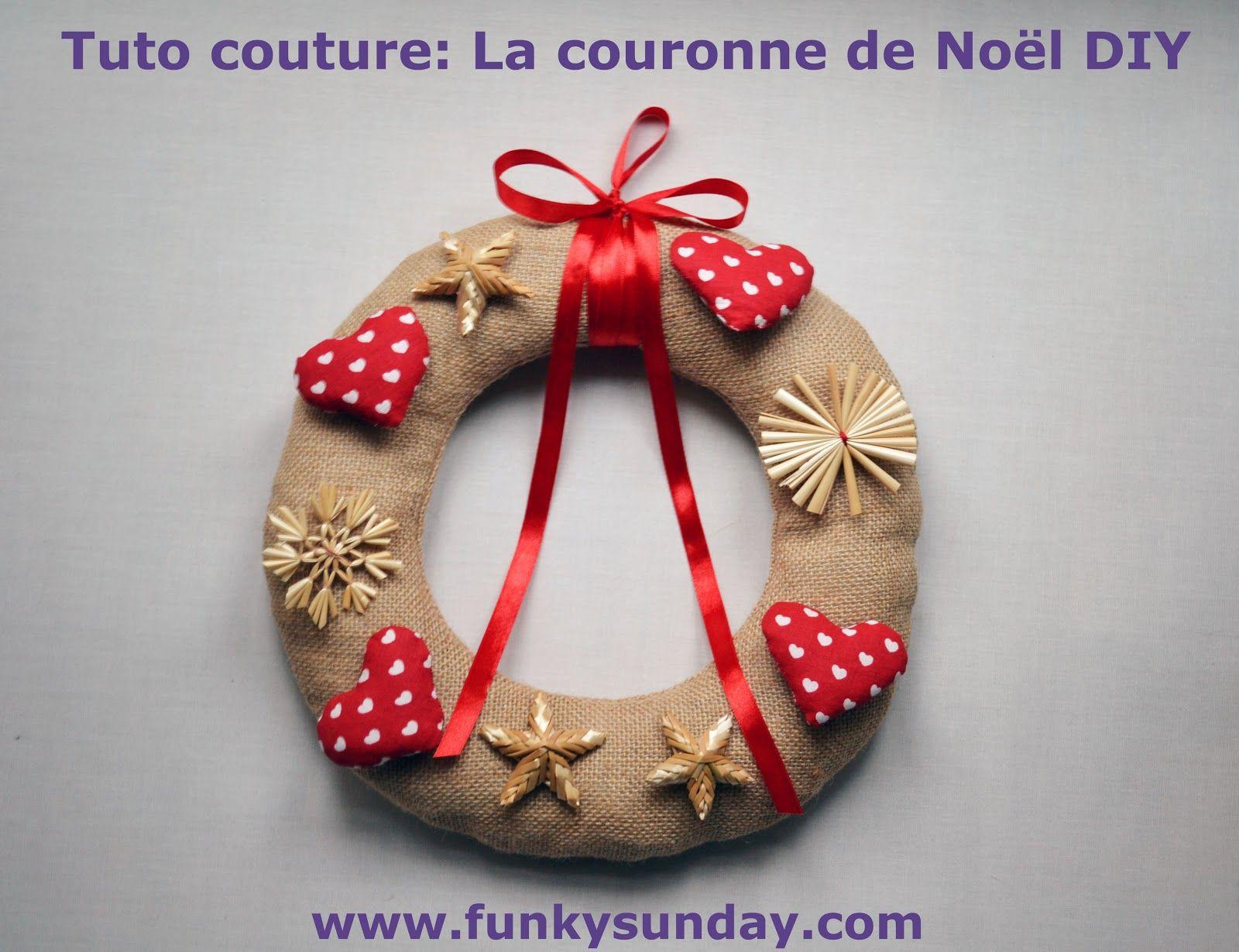 Funky sunday ma couronne de no l diy even the wreath get ready for christmas pinterest - Couronne de noel diy ...