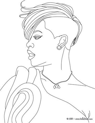 Rihanna Portrait Coloring Page More Famous People Coloring Sheets On Hellokids Com People Coloring Pages Star Coloring Pages Coloring Pages