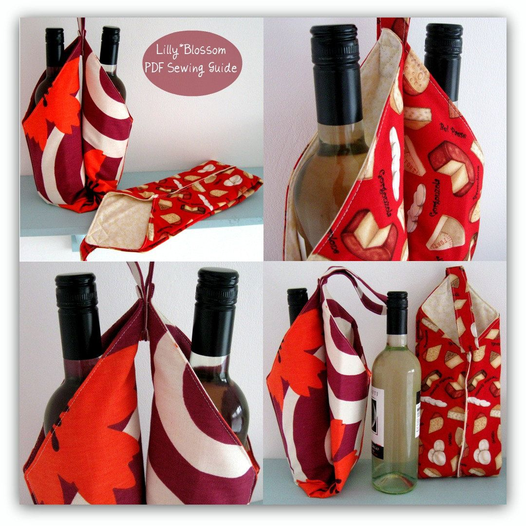 Double Wine Bottle Carrier Pdf Pattern Could Also Be Used For Soft Drinks Or Flavoured Olive Oils For G Pdf Sewing Patterns Bottle Carrier Wine Bottle Carrier