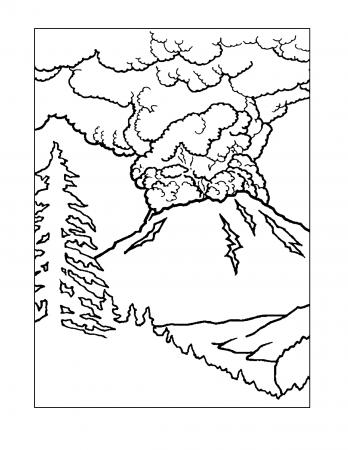 Volcano Coloring Pages Wenn Du Mal Buch Malvorlagen Fur Kinder Kostenlose Ausmalbilder