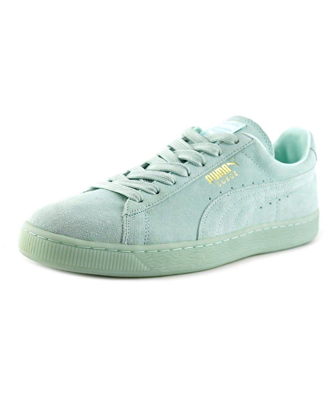 PUMA Puma Suede Classic + Mono Iced Men Round Toe Suede Blue Sneakers'. #
