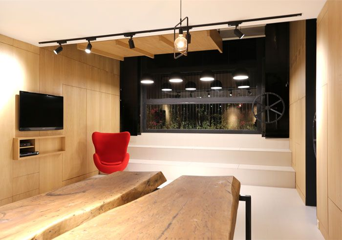 Spacesaving Design Idea At 45M2 Apartment  Interiorzine Simple Living Room Design Ideas For Small Spaces Decorating Inspiration