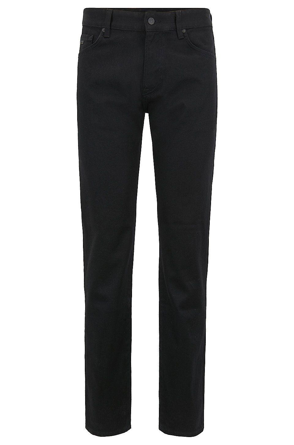 Boss Regular Fit Jeans In Black Black Stretch Denim Ripped Jeans Men Men Jeans Pants Mens Fashion Jeans [ 1456 x 960 Pixel ]
