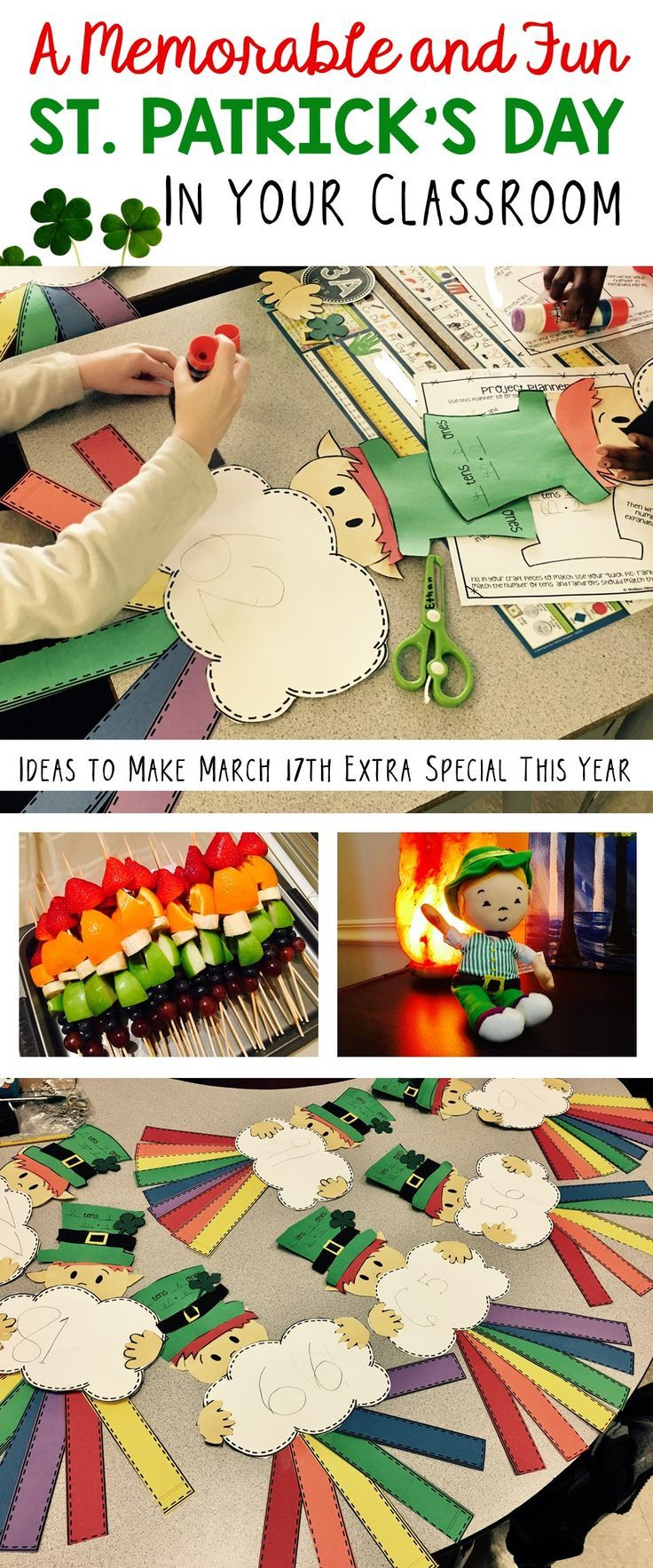 So many great ideas for having fun with students on St. Patrick's Day! Crafts for kids, leprechaun mischief, ideas, activities, resources, and a silly little guy name Silly McGilly!