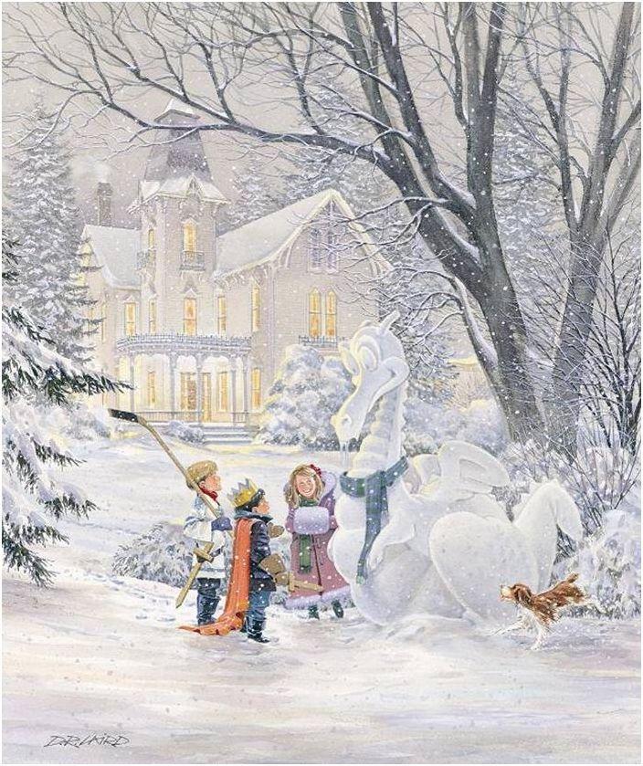 вампирской картинка новогодние забавы снежки происходит