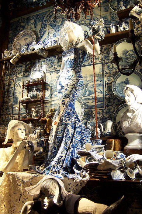 Roberto Cavalli Fall 2010 dress, Bergdorf Goodman window