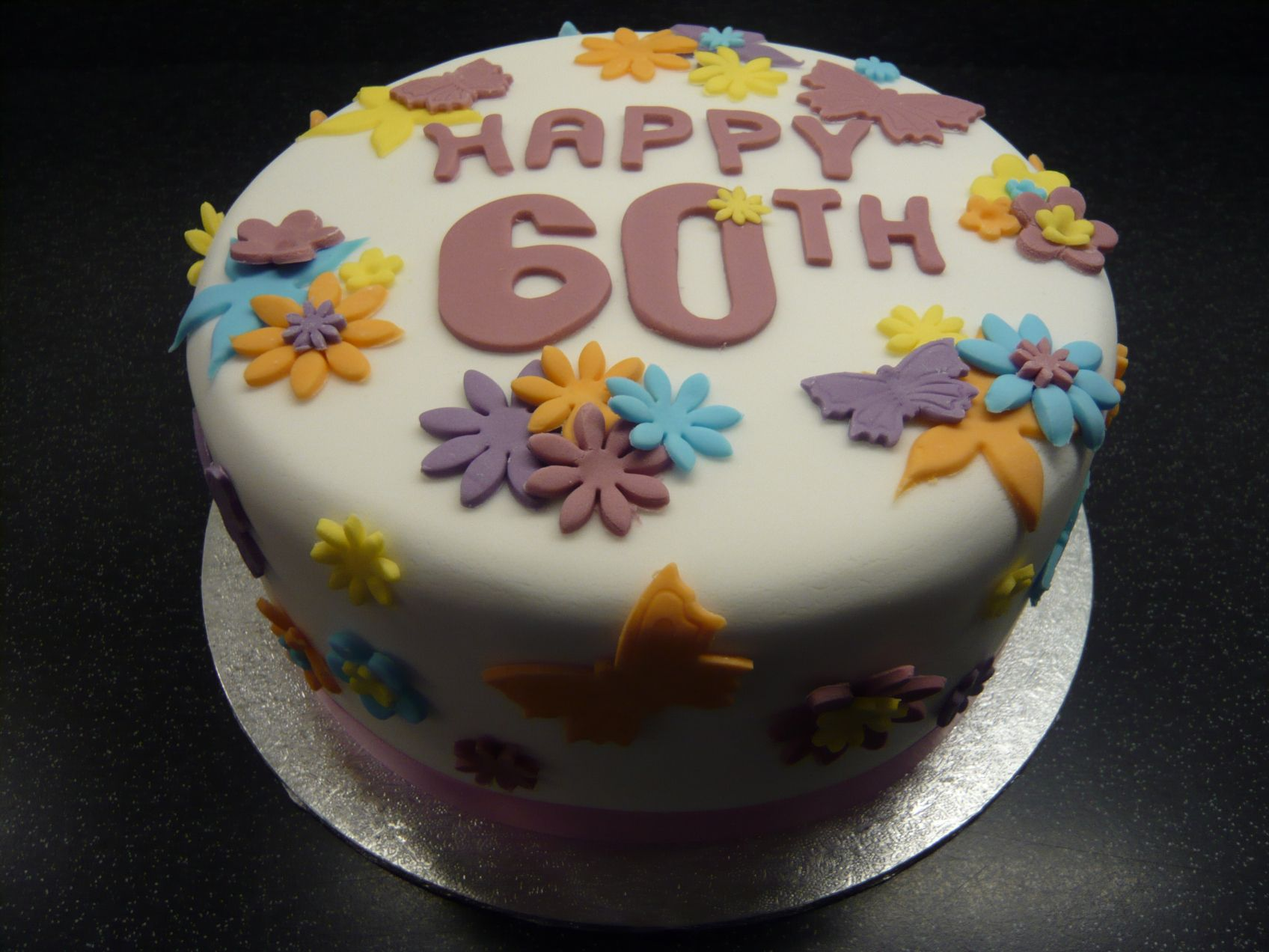 Birthday Cake 60 Year Old Lady 60th Cakes For Women Happy Woman Pictures Of