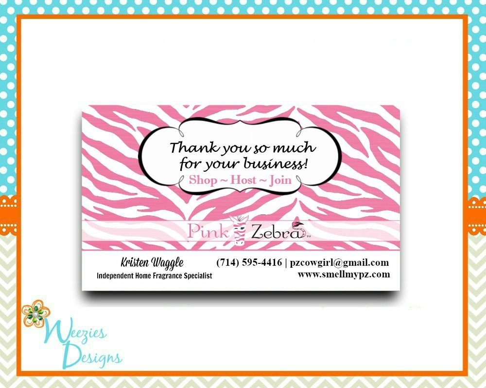 Pink Zebra Thank You Card Let Your Customers Know How Much You Appreciate Them Message Me To Order Yours Pink Zebra Thank You Cards Unique Soy Candles