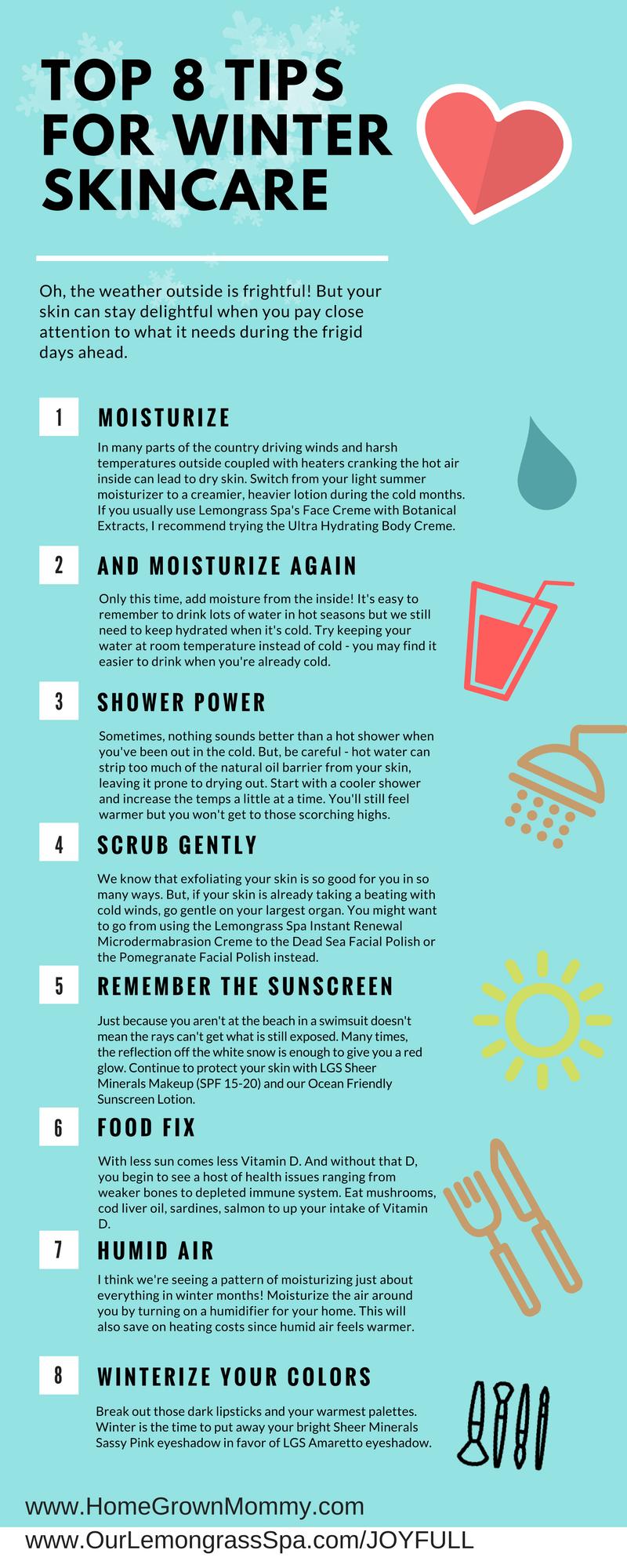 Top Tips for Winter Skincare  Winter skin care, Lemongrass spa