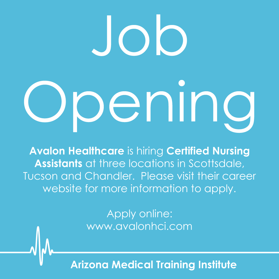 Avalon Healthcare Is Hiring Certified Nursing Assistants At Three