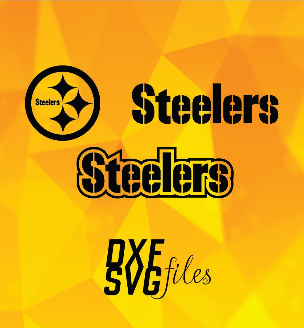 3 Pittsburgh Steelers Logos In Dxf And Svg Files Instant Download