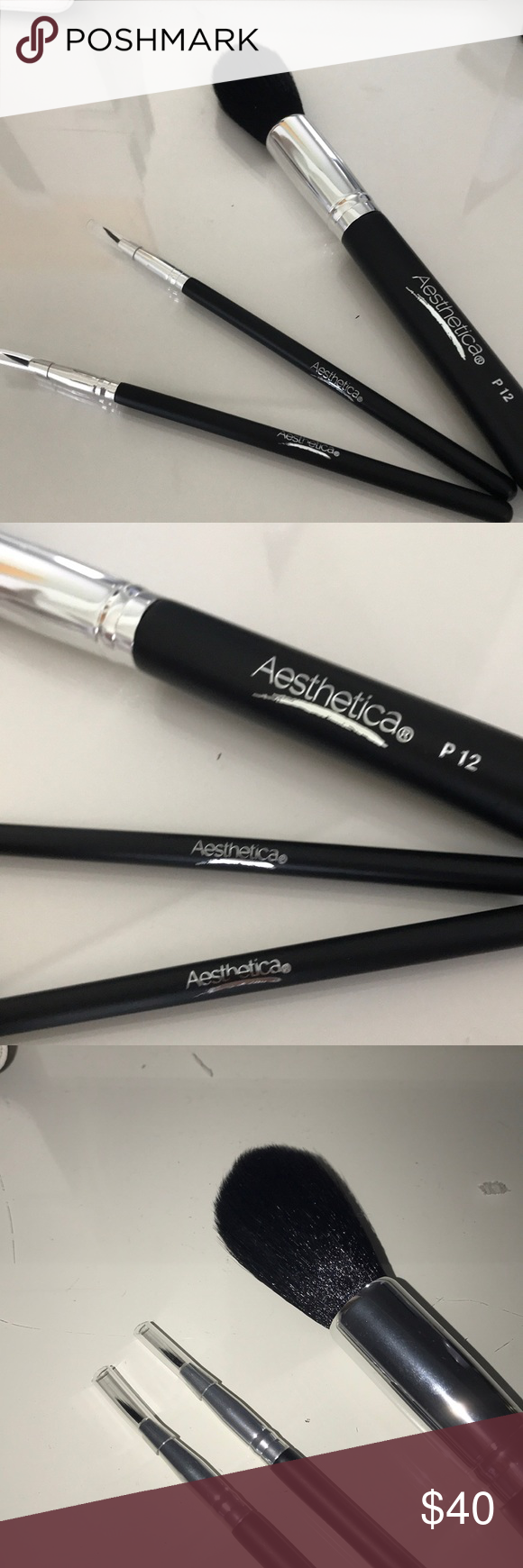 Aesthetica Set of 3 Brushes P12 Face Brush (synthetic