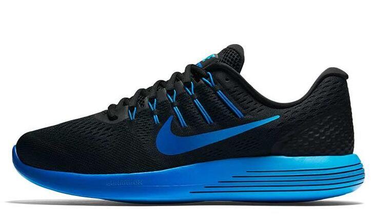 2016 Nike LUNARGLIDE 8 Running Shoes Men Sneakers High Quality Walking  Men s Blue Black New Sports 43eea2e52