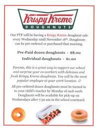 Krispy Kreme Fundraiser Flyer For Weekly Donuts  Pta Fundraising