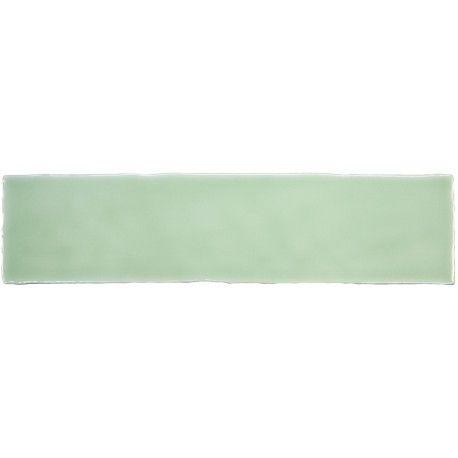 Carrelage rétro mural brillant vert 7.5 x 30 cm - AL0801038