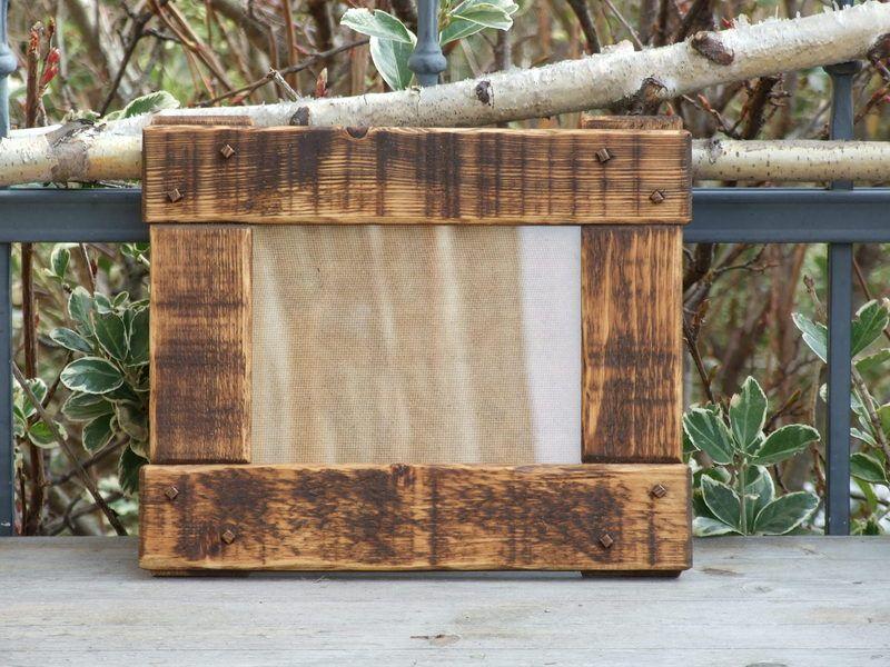 bilderrahmen holz 15x20 rustikal dunkelbraun von wood et lucem auf tischdeko. Black Bedroom Furniture Sets. Home Design Ideas