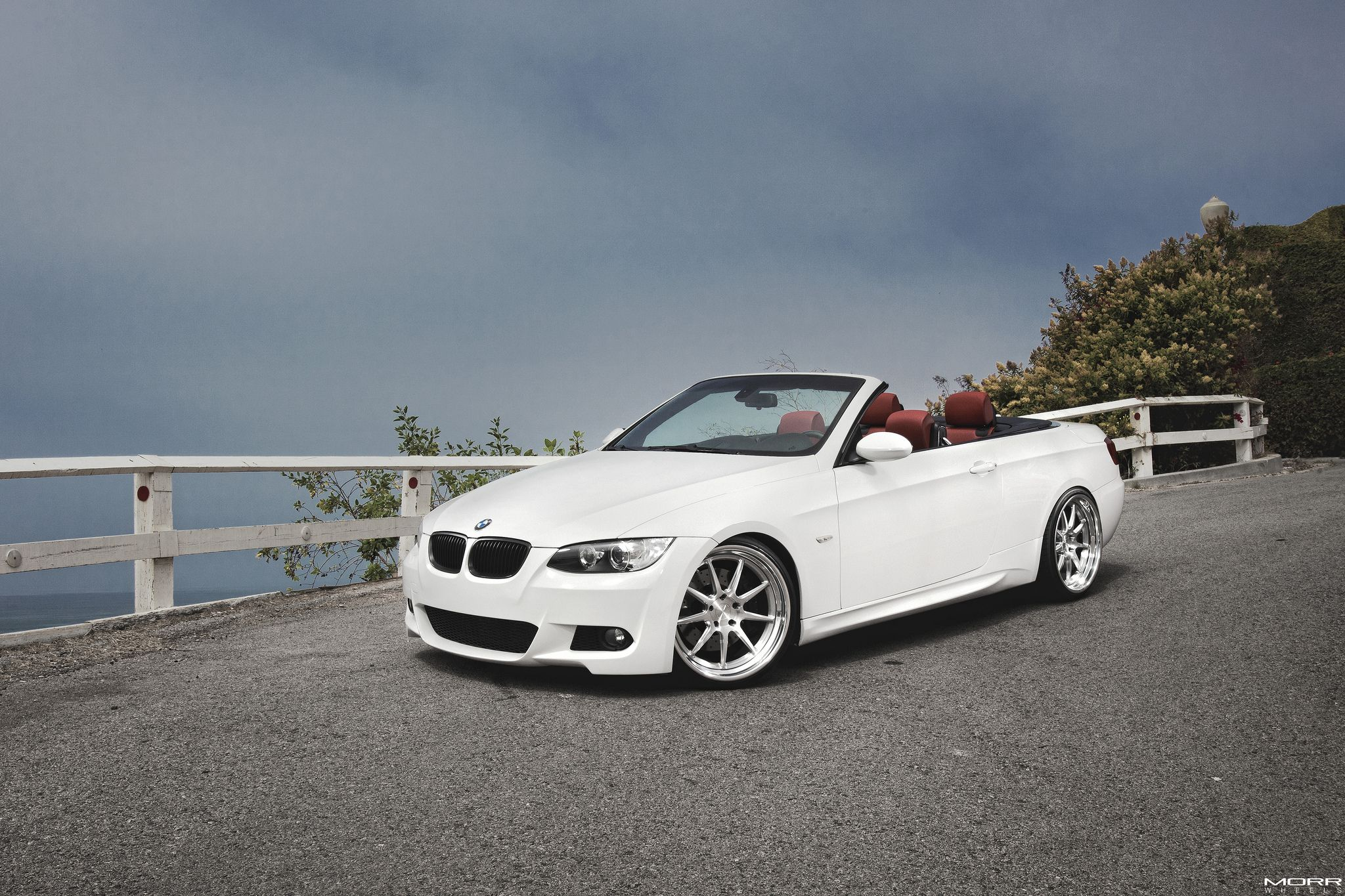 BMW 335I Convertible >> Alpine White Bmw 335i Convertible On Morr Wheels Bmw