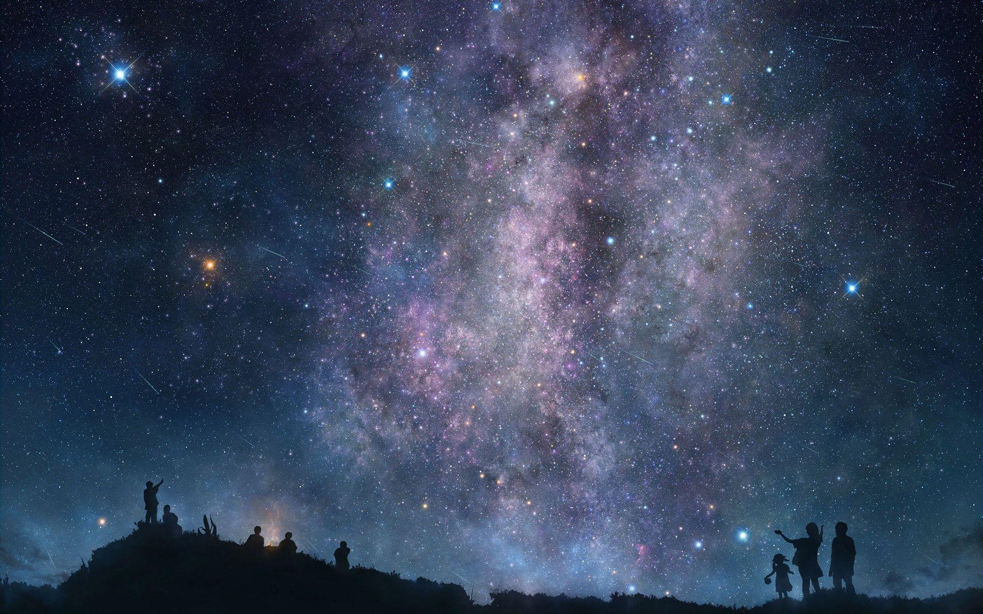 Night Sky Stars Wallpaper Mobile For Desktop 1920x1200 Px 550 91 Kb Night Sky Wallpaper Night Sky Stars Star Wallpaper