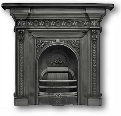 Mantels in Cast Iron | Fireplace Ornate Antique | Pinterest | Cast iron fireplace