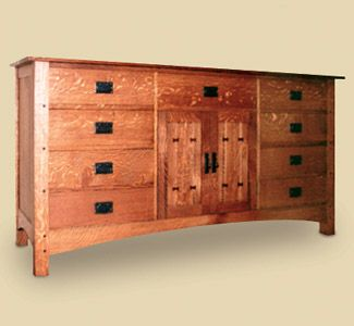 The following woodworking plans are mission style buffet for Craftsman furniture plans