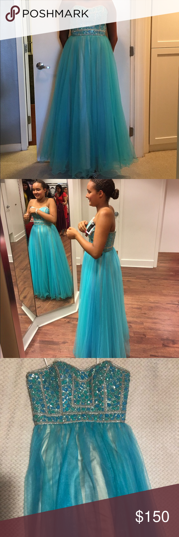 Girls prom dress my posh picks pinterest turquoise prom