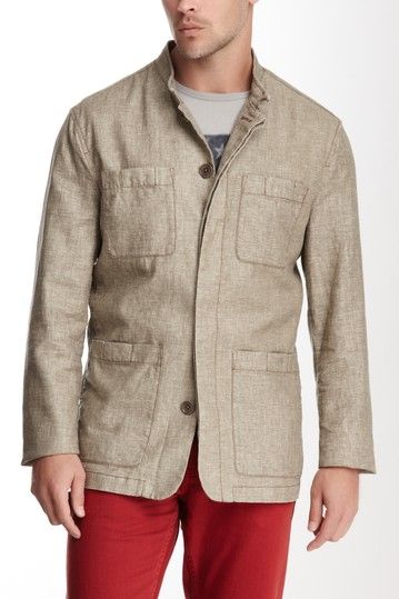 Worker Linen Blend Jacket by Star USA By John Varvatos on @HauteLook