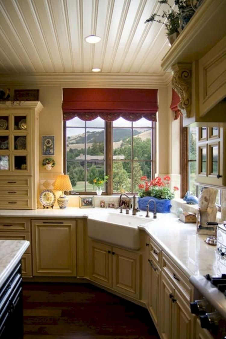 Corner window kitchen sink   best farmhouse kitchen sink decor ideas  kitchen sinks