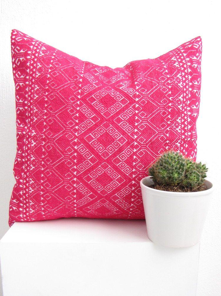 Laralita Pillow Cover Fuchsia 16x16 Pillows And Poufs