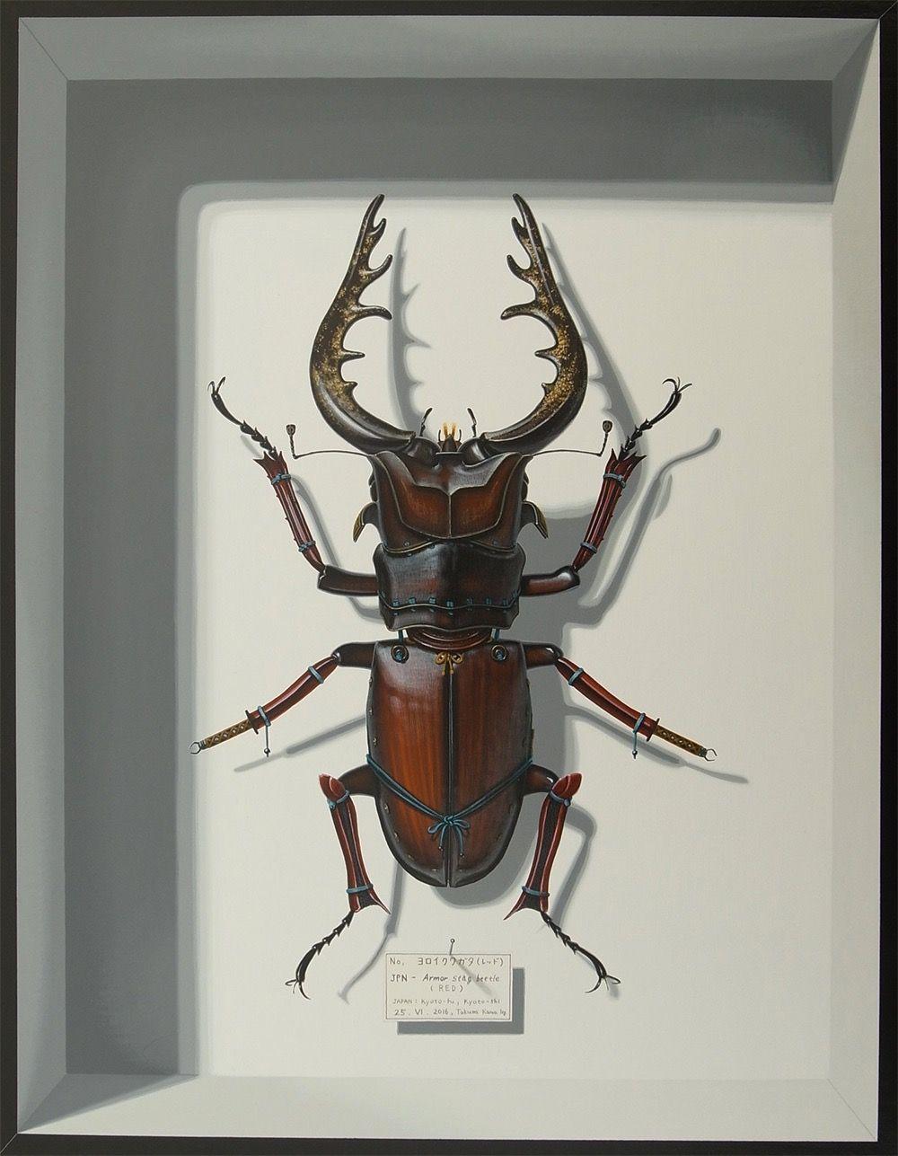 Fictional Bugs Painted by Takumi Kama