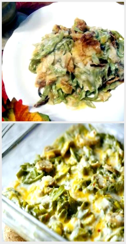 Cheesy Green Bean Casserole Recipe Cheesy Green Bean Casserole Recipe