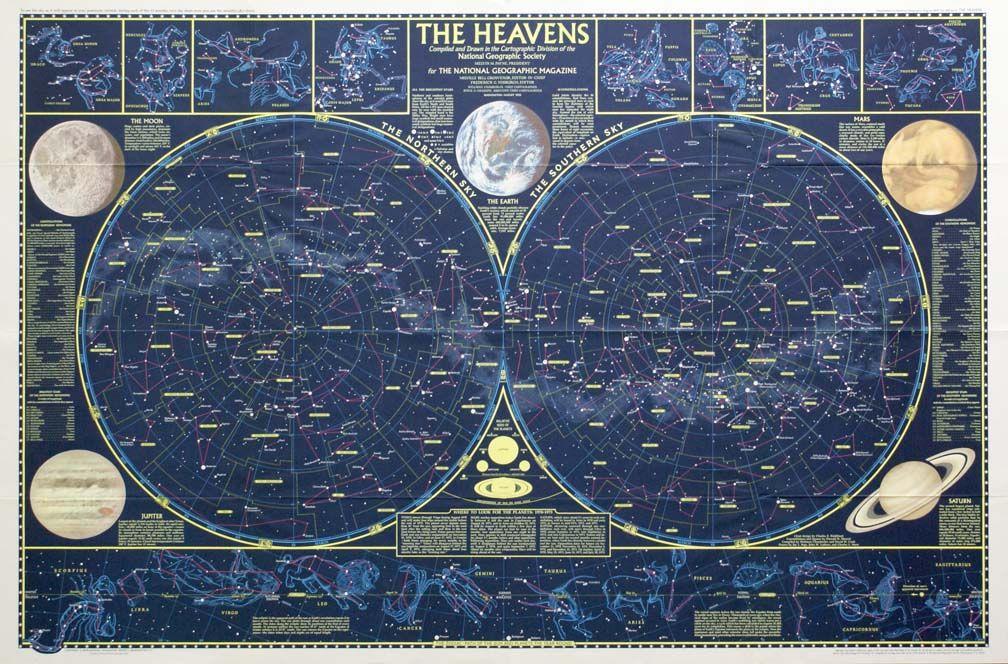 Maps Celestial Celestial map, Celestial chart