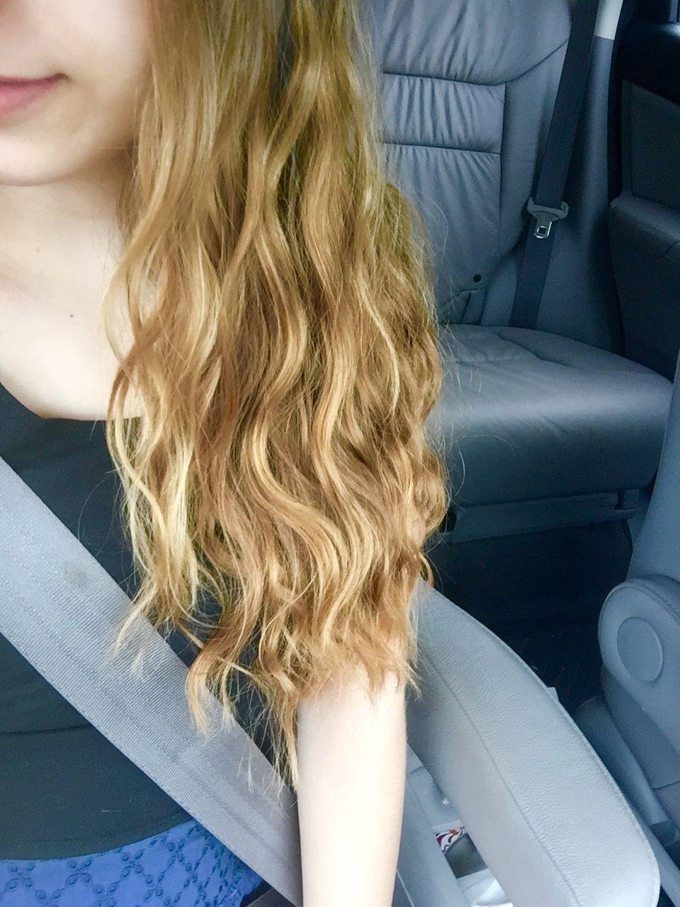 perfect beach waves: 1) dampen hair 2) apply a light misting of beach spray or light hair spray 3) braid hair into 2 Dutch braids 4) sleep... perfect waves!