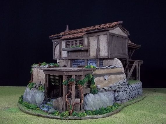 Tuscan Villa Fantasy Miniature Building in 28mm by
